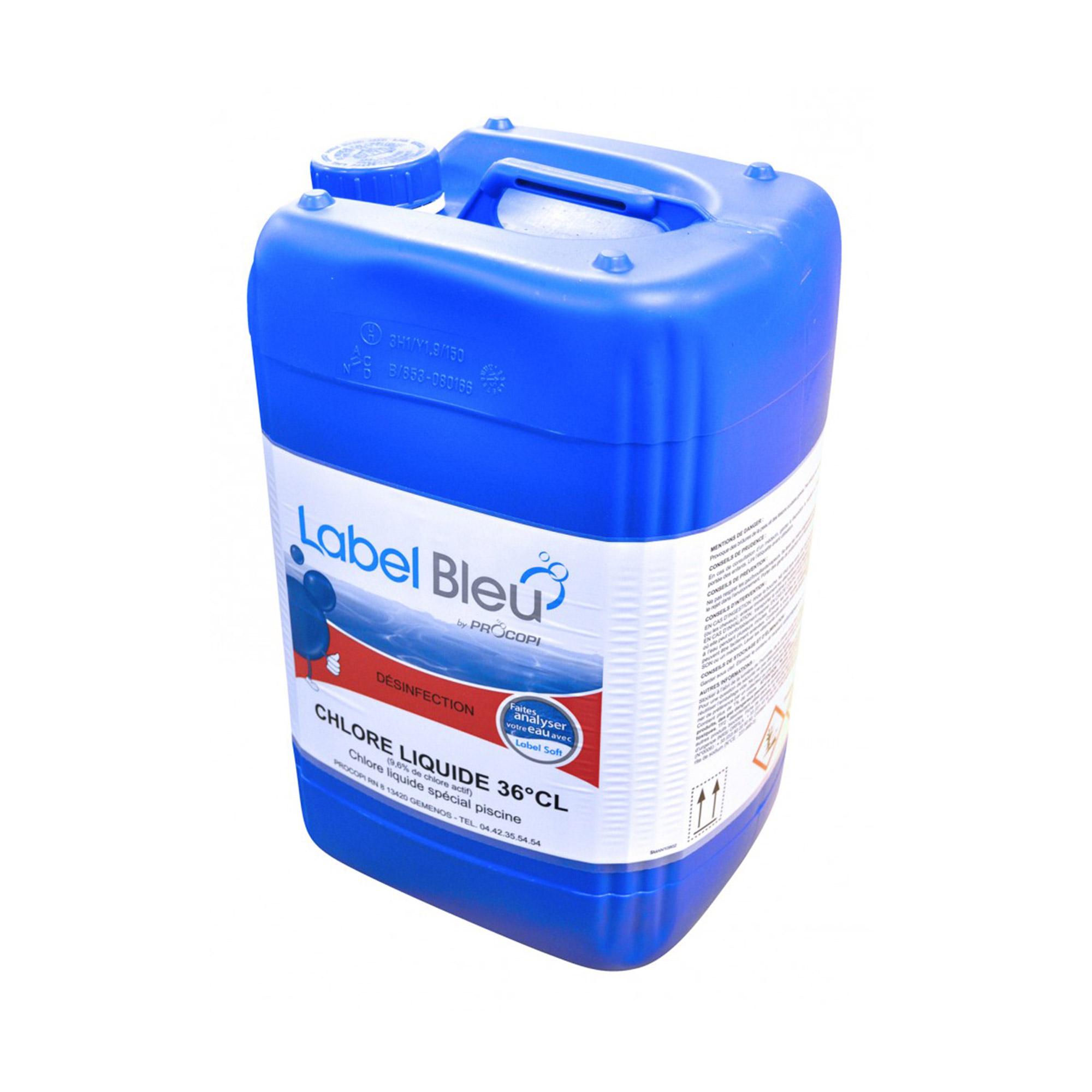 Chlore liquide 36 inhibe la corrosion et stabilise le for Eau de piscine