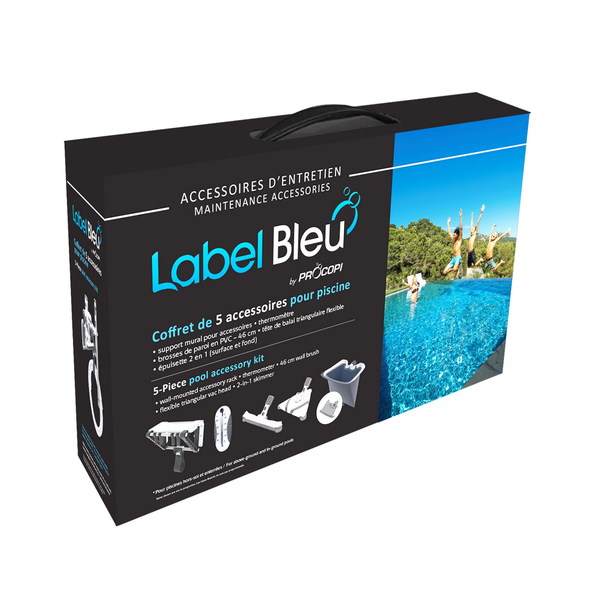 Coffret d accessoires label bleu piscines d 39 artisans for Coffret piscine
