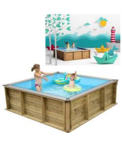 piscine bois carr e hors sol semi enterr e enterr e. Black Bedroom Furniture Sets. Home Design Ideas