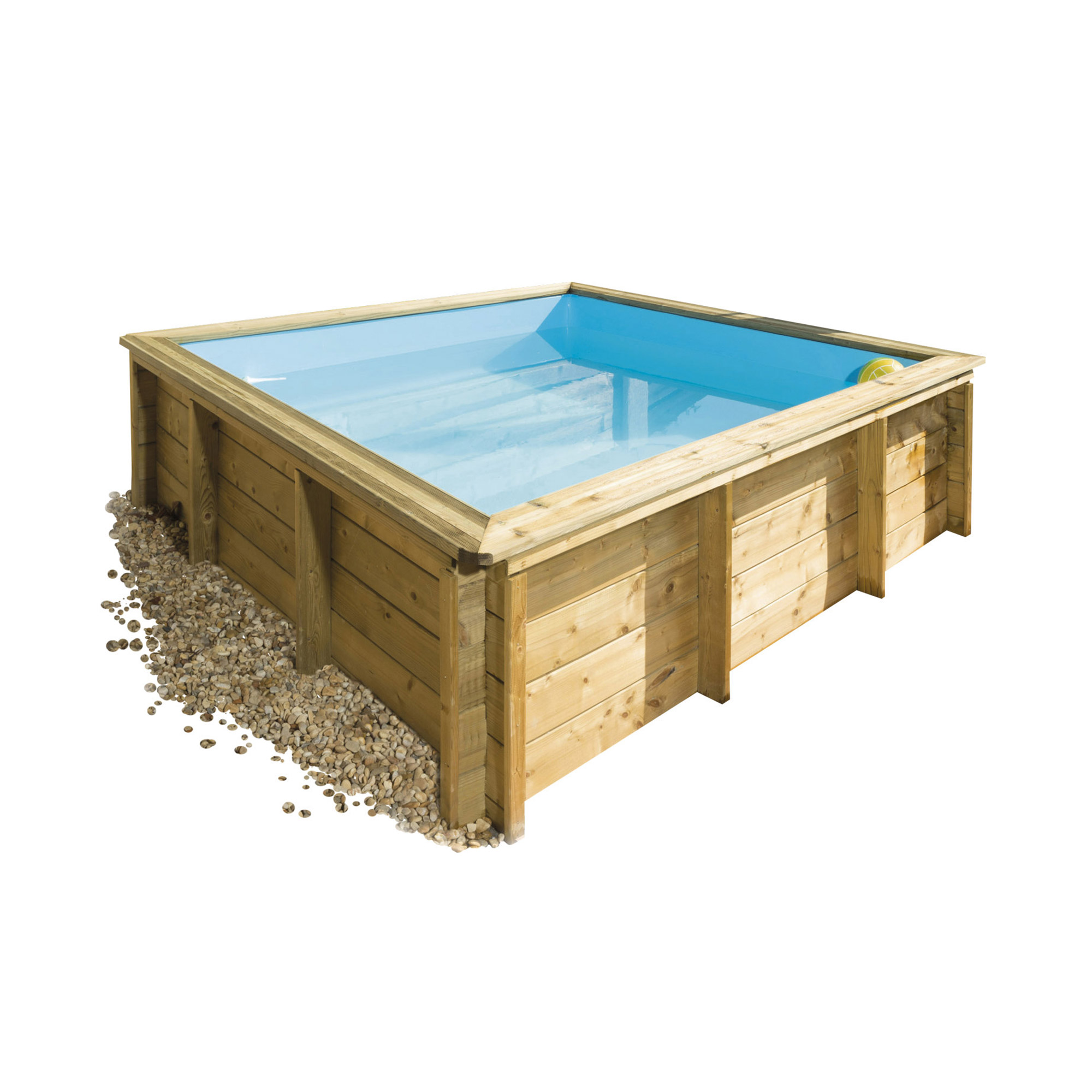 Piscine bois carr e hors sol la tropic junior piscines for Piscine carree hors sol