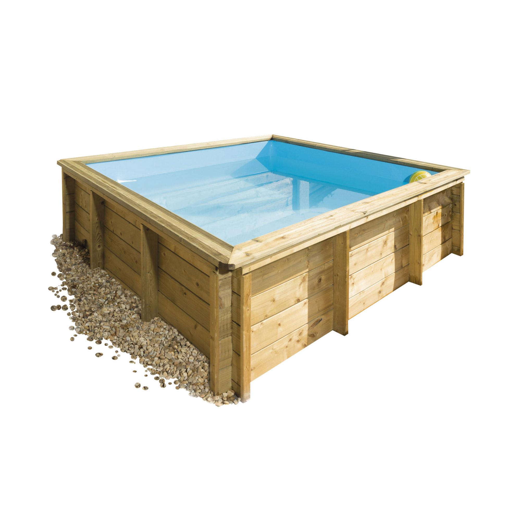 piscine bois 2m x 2m