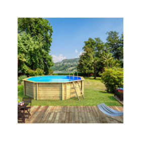 piscine bois odyssea octogonale 530