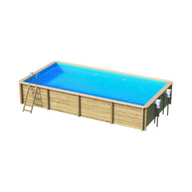 piscine bois rectangulaire odyssea 6x3