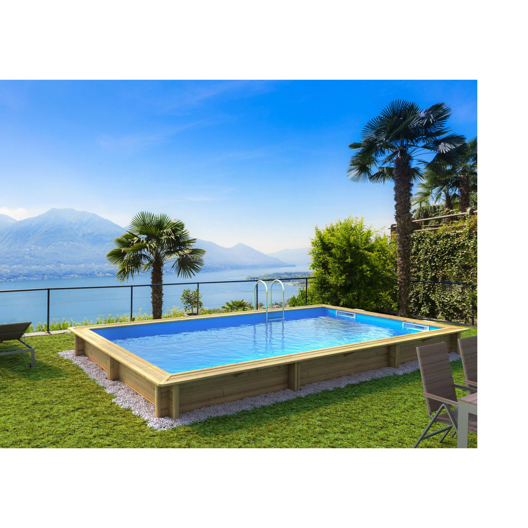piscine bois rectangulaire hors sol semi enterr e enterr e weva rectangle 6x3 piscines d. Black Bedroom Furniture Sets. Home Design Ideas