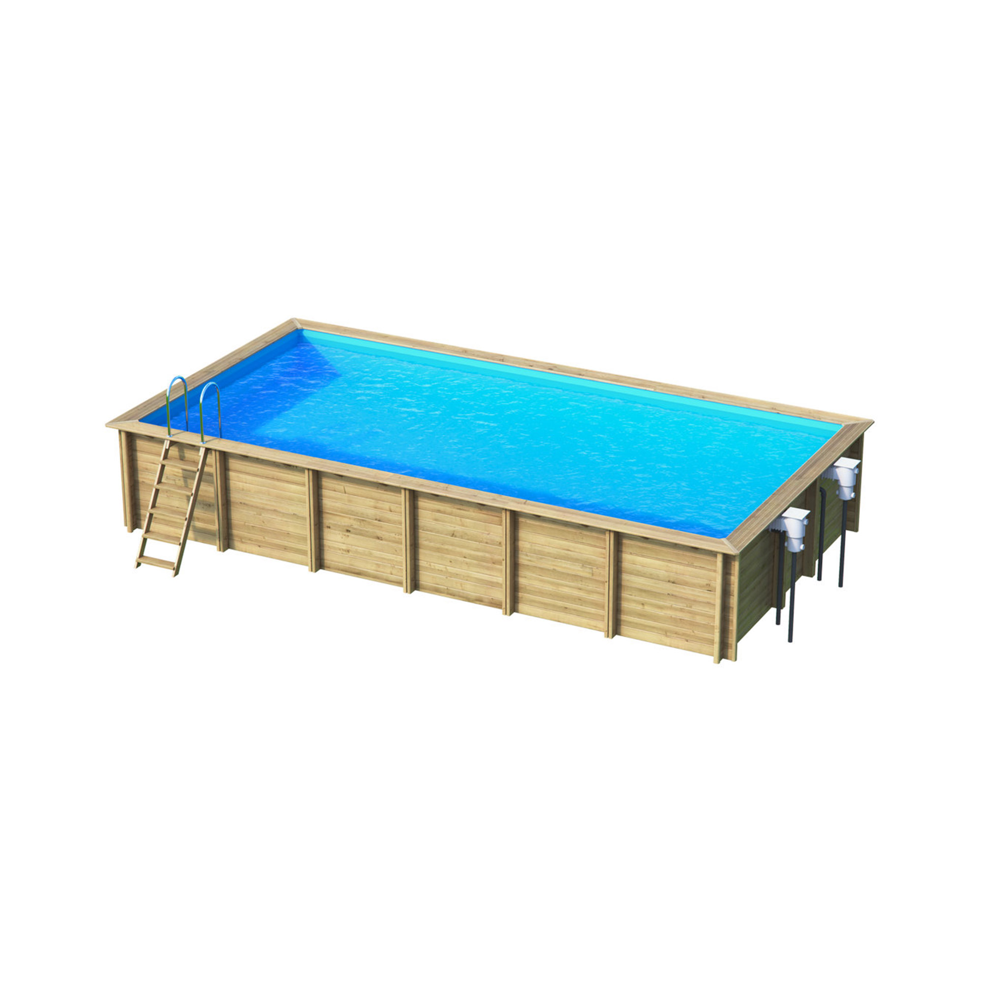 piscine bois rectangulaire hors sol semi enterr e enterr e weva rectangle 8x4 piscines d. Black Bedroom Furniture Sets. Home Design Ideas