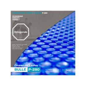 couverture à bulles pour piscine bois octogonale 505 ou 530 cm