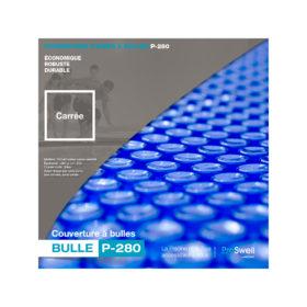 couverture à bulles pour piscine bois carrée 3x3